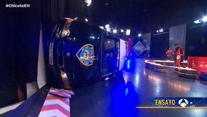 Nuevo accidente en 'El hormiguero': un coche vuelca durante un ensayo