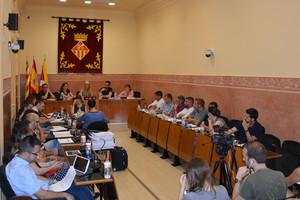 Imagen del Pleno celebrado el pasado jueves en el Ayuntamiento de Rubí