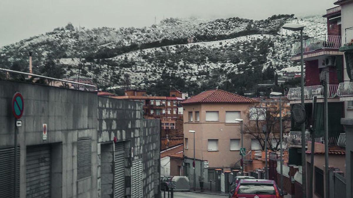 Imagen del Tibidabo nevado.