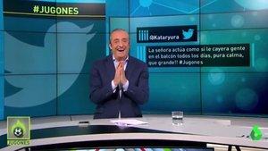 El tremendo ataque de risa de Josep Pedrerol por el tuit de un espectador