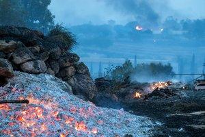 Los bomberos trabajan en las labores de extincion de un incendioenIsrael.EFE