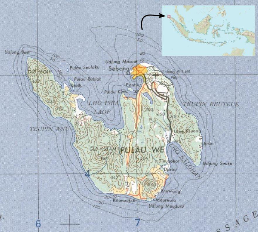 La isla de Weh, en Indonesia.
