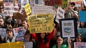 Manifestación para reclamar medidas contra la crisis climática, en Madrid, en marzo del 2019.