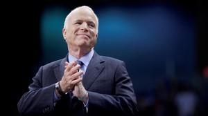 John McCain durante la campaña presidencial del 2008.