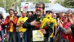 El concejal de ERC Jordi Pesarrodona, antes de declarar en los juzgados de Manresa