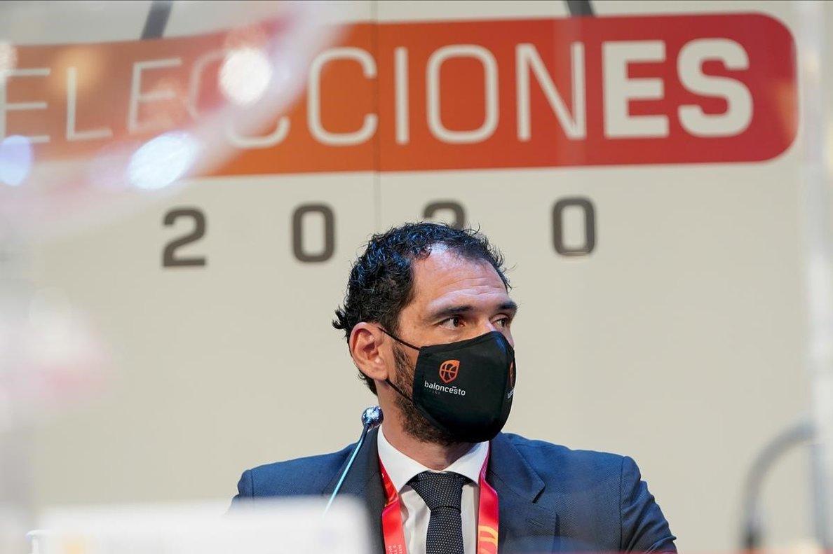 Jorge Garbajosa, en la asamblea de la FEB en la que se votó su reelección