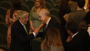 El juez Pablo Llarena, este lunes, en el acto de entrega de despachos a los nuevos jueces en Barcelona.