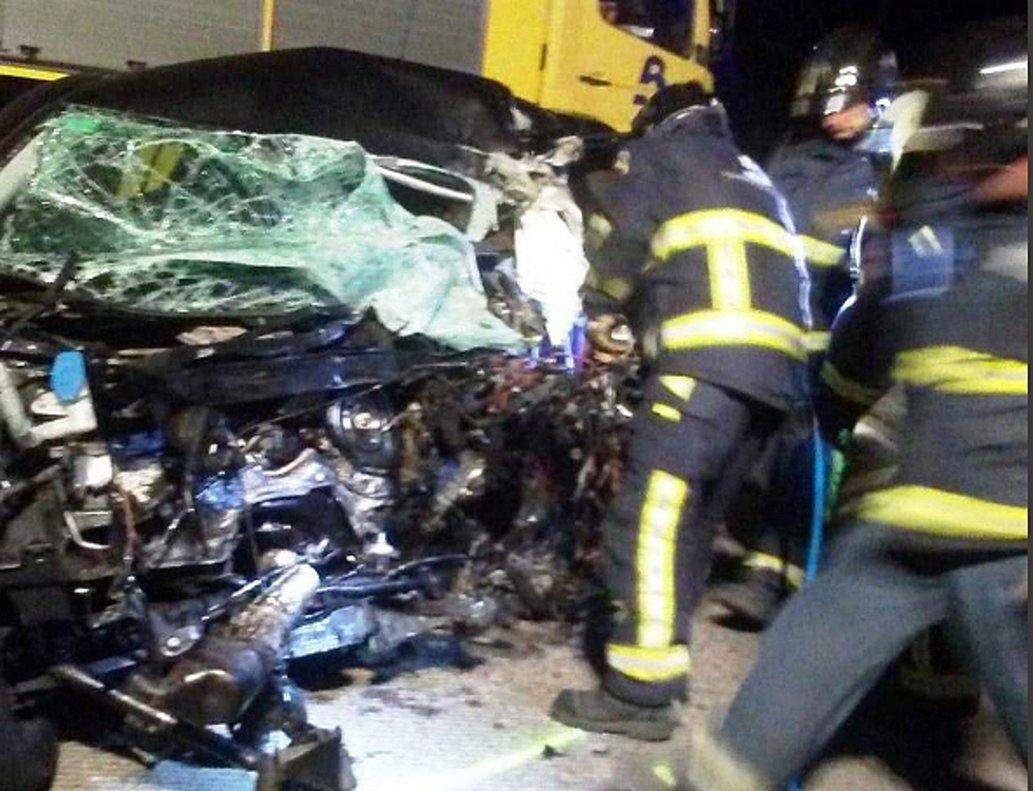 El accidente múltiple ocasionado por un kamikaze.
