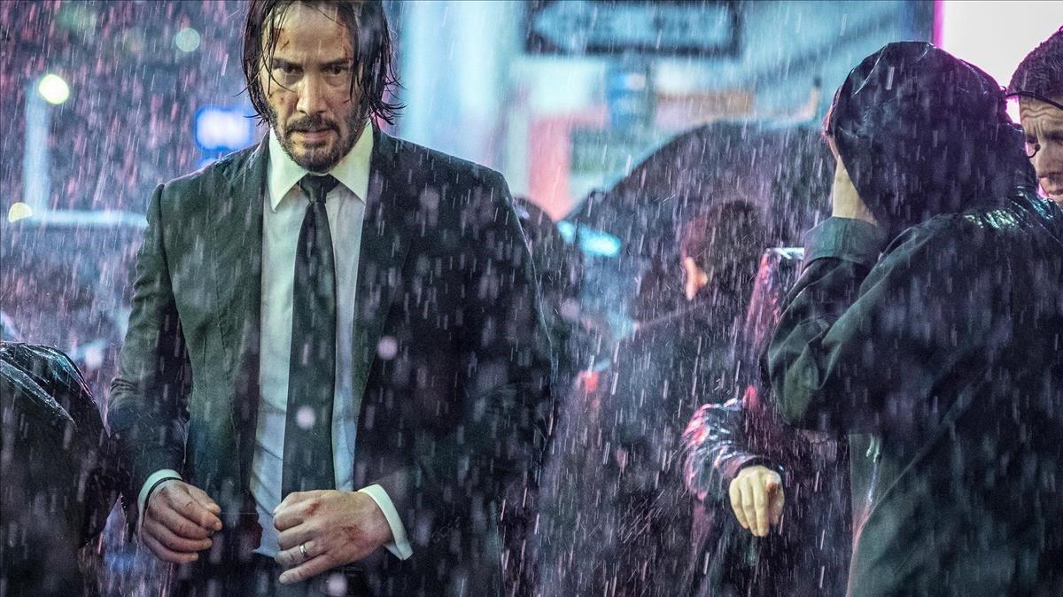 Keanu Reeves, en un fotograma de 'John Wick: Capítulo 3 - Parabellum'