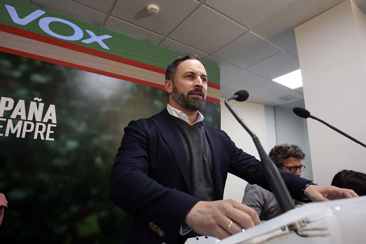 El líder de Vox, Santiago Abascal, analiza los resultados de las elecciones generales.