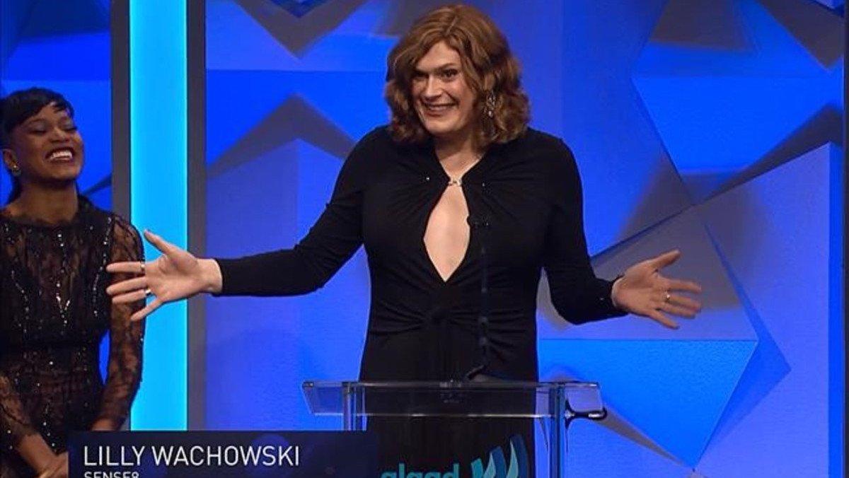 Lilly Wachowsky, el sábado, en la gala de los premios GLAAD.