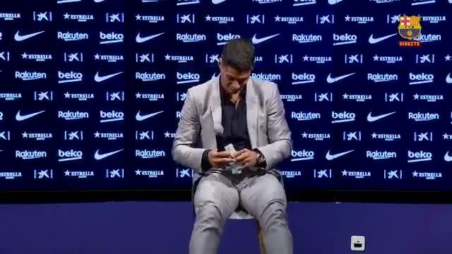 Luis Suárez se despide con una rueda de prensa.