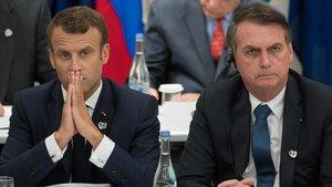 Macron y Bolsonaro, durante la cumbre del G-20 en Osaka.