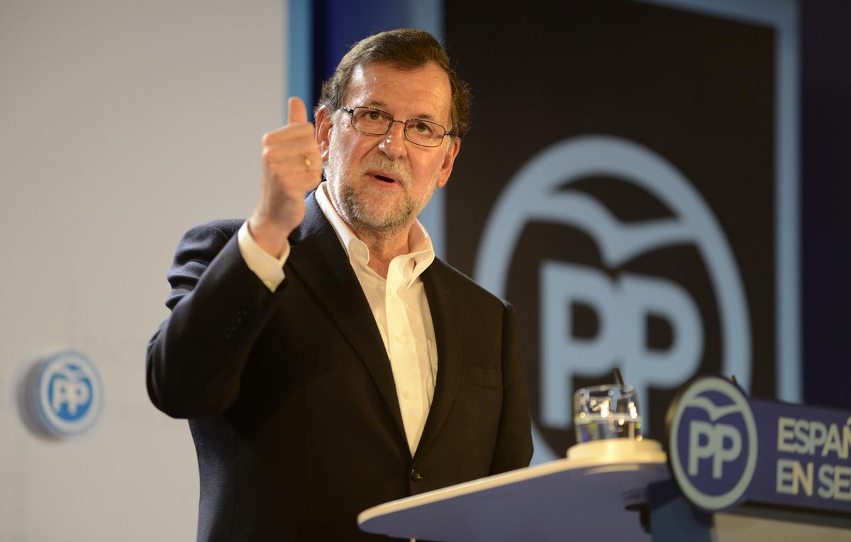 Mariano Rajoy, durante la clausura de la convención que el Partido Popular ha celebrado en Barcelona.