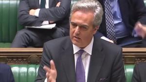 Mark Garnier interviene en la Cámara de los Comunes, el 29 de octubre, en Londres.