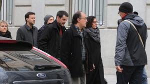 Marta Rovira a su llegada al Tribunal Supremo.