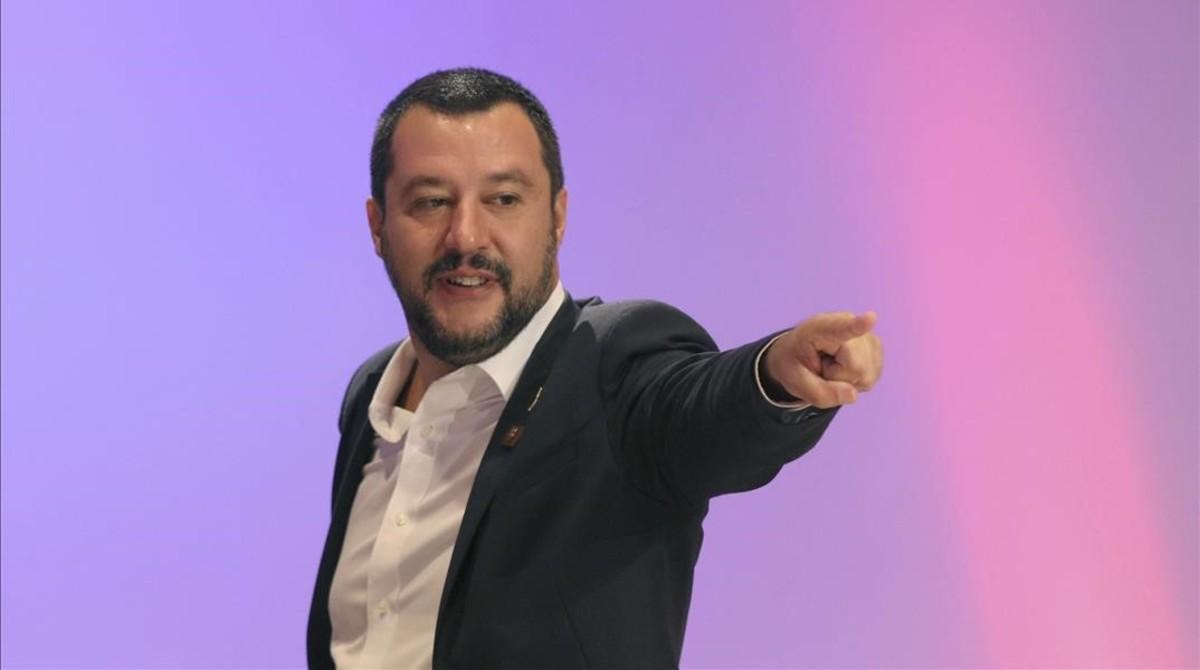 El vicepresidente del Gobierno yministro del Interior italiano, Matteo Salvini.