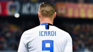 Mauro Icardi en el partido de su regreso, ante el Genoa.