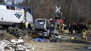 Almenys un mort en un accident de tren amb congressistes dels EUA