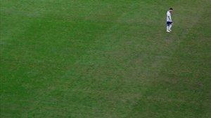 Messi durante el partido de la Copa América contra Catar en Porto Alegre (Brasil).