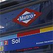 Entrada a la estación de Sol del metro de Madrid.