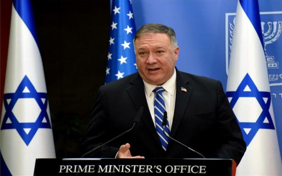 Mike Pompeo, secretario de Estado de los EEUU en gira por Israel.