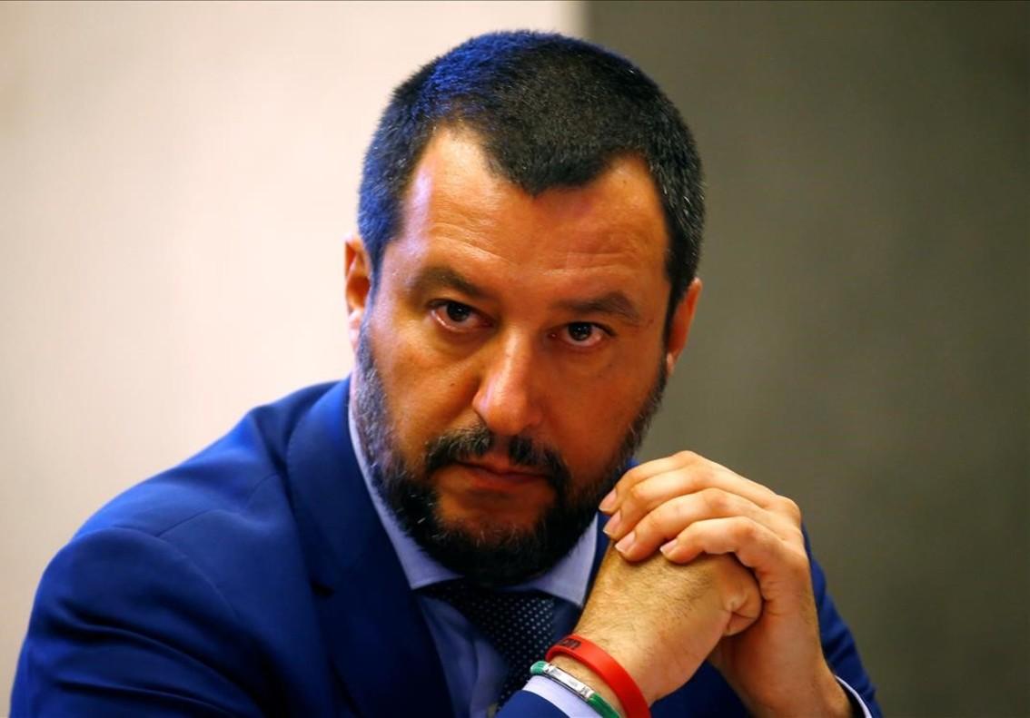 El ministro del Interior italiano y secretario de la Liga ultraderechista, Matteo Salvini.