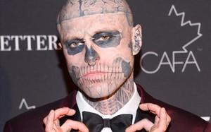 El modelo Rick Genest, conocido como Zombie Boy.