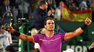 Nadal celebra su clasificación para semifinales