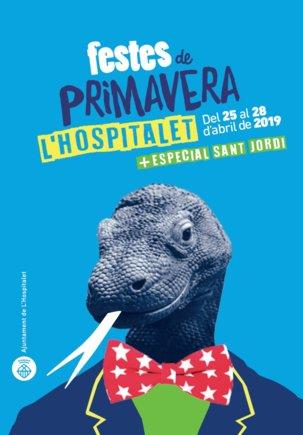 El cartel de las Festes de Primavera de LHospitalet de Llobregat 2019.