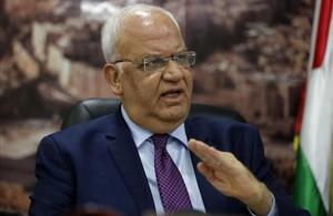 El secretario general de la Organización para la Liberación de Palestina, Saeb Erekat.