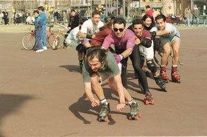 Els patinadors es manifesten per un Madrid 'més patinable'