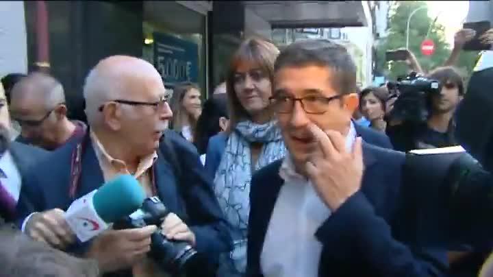 Patxi López, a su llegada a la sede del PSOE para asistir al comité federal