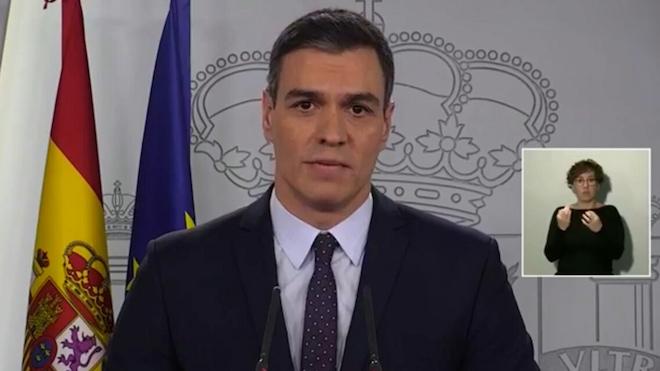 Pedro Sánchez anuncia un plan de 200.000 millones contra el coronavirus.