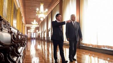 Nieto y López Obrador escenifican un cambio de poder tranquilo en México