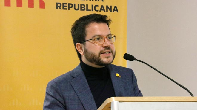 El coordinador nacional de ERC Pere Aragonès advierte que ejercerán la autodeterminación si la mesa de diálogo no avanza.