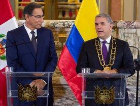 El presidente de Perú, Martín Vizcarra y el de Colombia, Iván Duque.