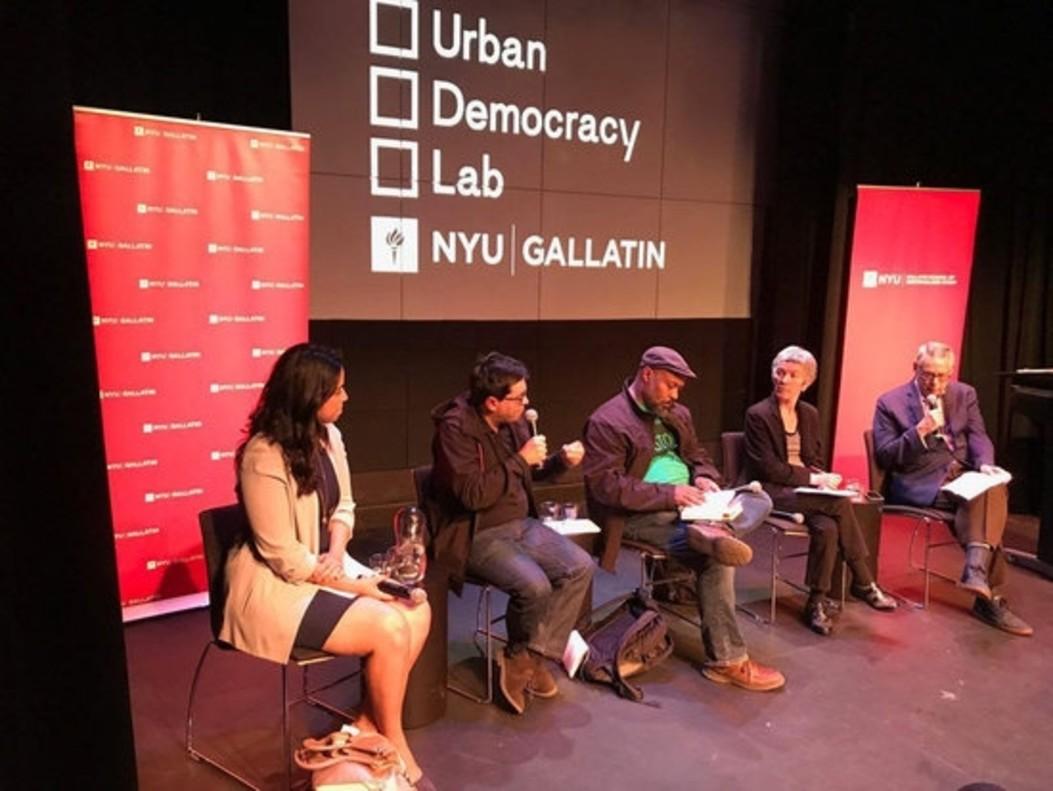 Gerardo Pisarello intervieneen la cumbre de Nueva York Ciudades para las personas.