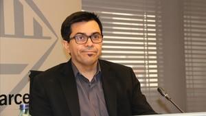 El primer teniente de alcalde del Ayuntamiento de Barcelona, Gerardo Pisarello, durante la presentación de los resultados del plan contra el fraude fiscal