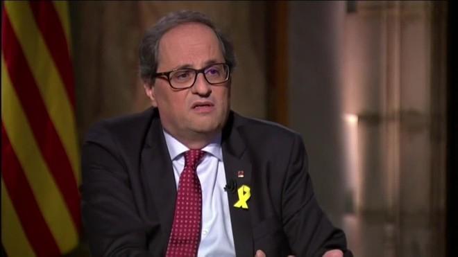 Quim Torra pide soluciones al nuevo presidente del Gobierno español.