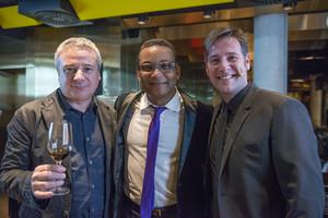 Quim Vila, Gonzalo Rubalcaba y Carlos Latre, en el Monvínic Experience de este lunes.