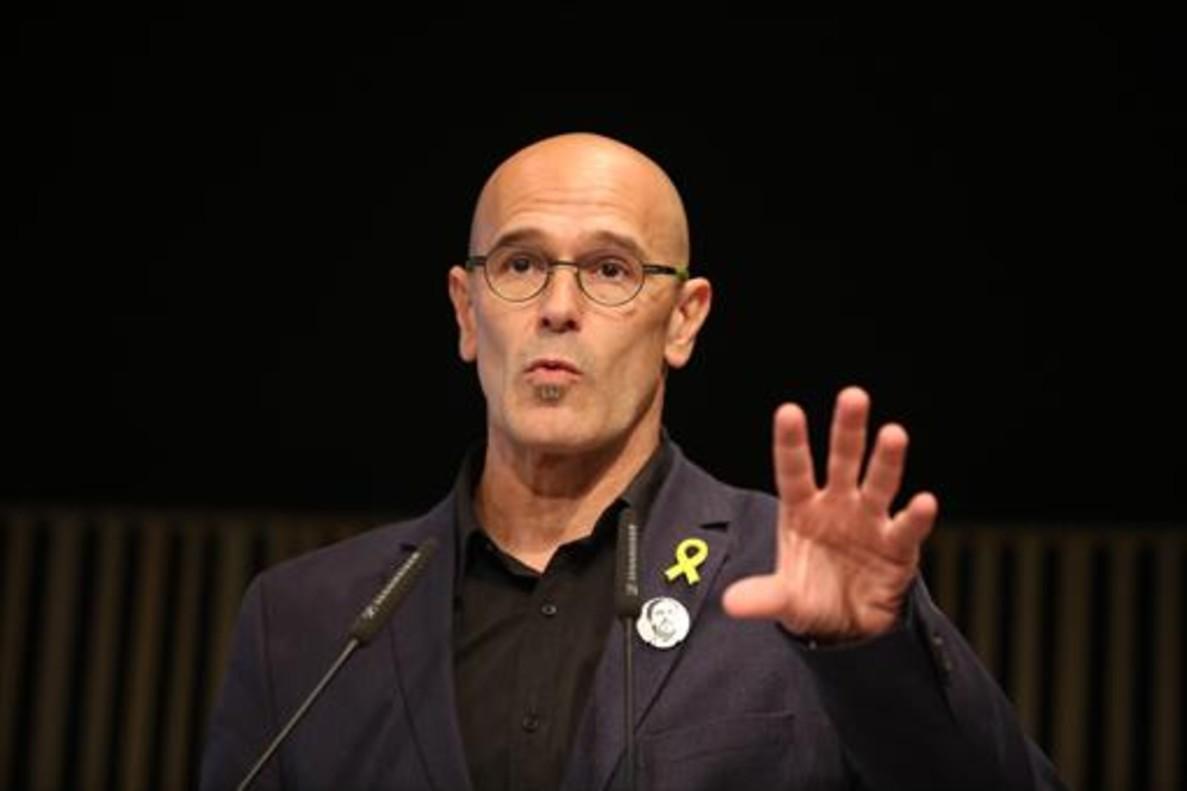 Raül Romeva, el 12 de diciembre, en la campaña electoral del 21-D.