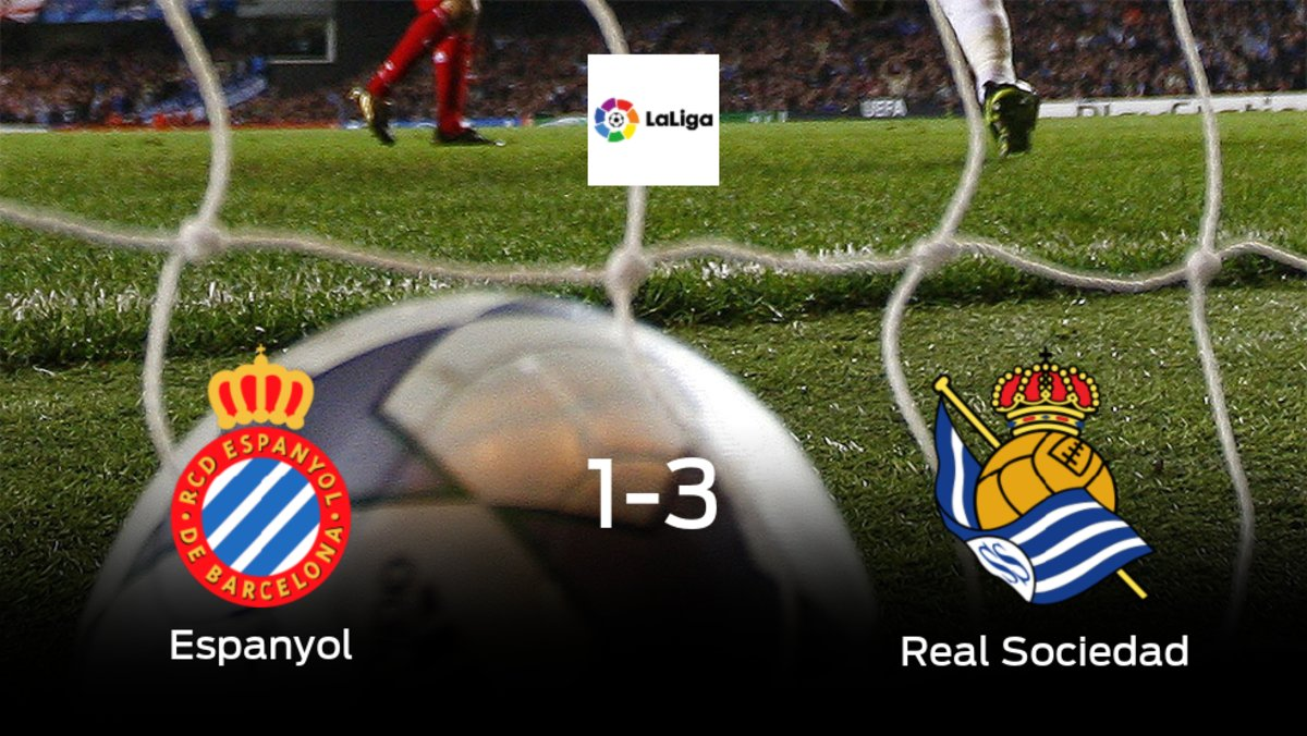 La Real Sociedad se lleva los tres puntos frente al Espanyol (1-3)