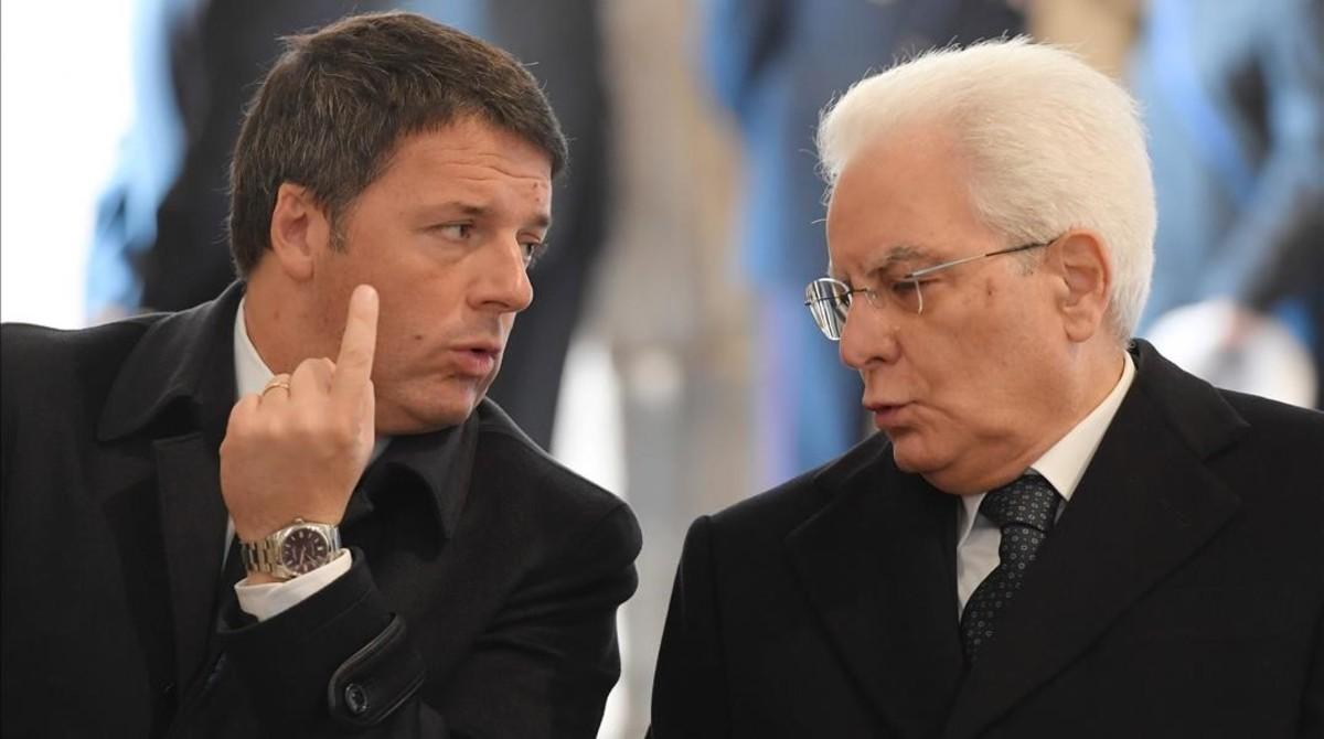 Renzi y Mattarella, en noviembre.