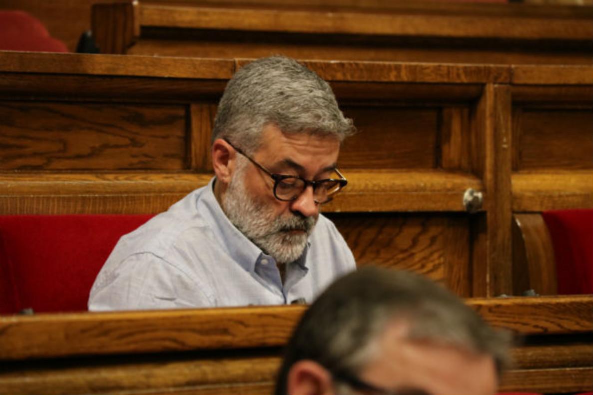 Carles Riera, diputado de la CUP, en el Parlament.