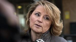 Rosa Estarás, exvicepresidenta del Gobierno balear, antes de declarar como testigo en el juicio del caso Nóos.