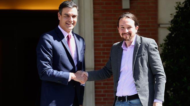 Sánchez e Iglesias, con voluntad de alcanzar un acuerdo.