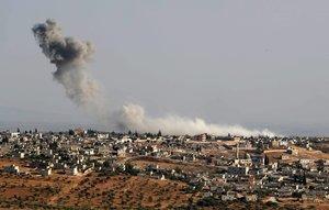 Ataques y bombardeos en Siria.