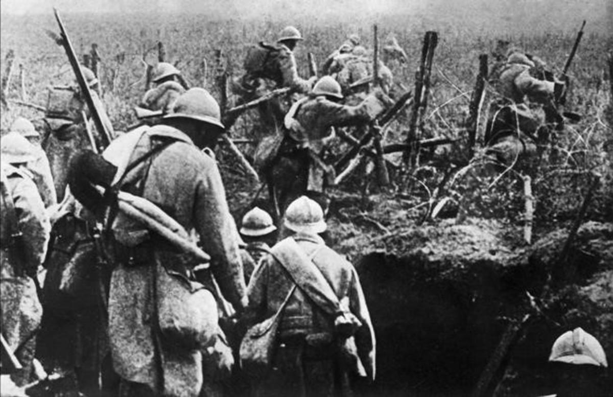 Soldados franceses en la batalla de Verdún en 1916.