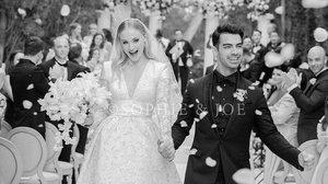 Sophie Turner y Joe Jonas, en su boda, celebrada en Francia.